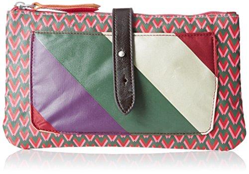 Bensimon - bolso de mano Mujer, Rosa (Rosa (IMPRIME ROSE 6080)), 24x14x1...
