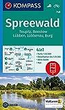 KOMPASS Wanderkarte Spreewald, Teupitz, Beeskow, Lübben, Lübbenau, Burg: 4in1 Wanderkarte 1:50000 mit Aktiv Guide und Detailkarten inklusive Karte zur ... (KOMPASS-Wanderkarten, Band 748)