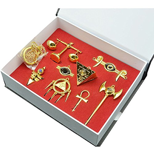 Millenium Puzzle Schlüsselanhänger Legierung Halskette Anhänger Gold Schmuck Zubehör für Christmas Gift