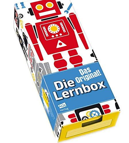 Die Lernbox (DIN A8) - Design: Roboter: Lernbox zum Selbstbefüllen, fertig montiert