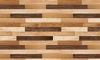 DECO SHEET 貼ってはがせる装飾シート 40cm×200cm 寄せ木柄 DEC-09 BR・ブラウン