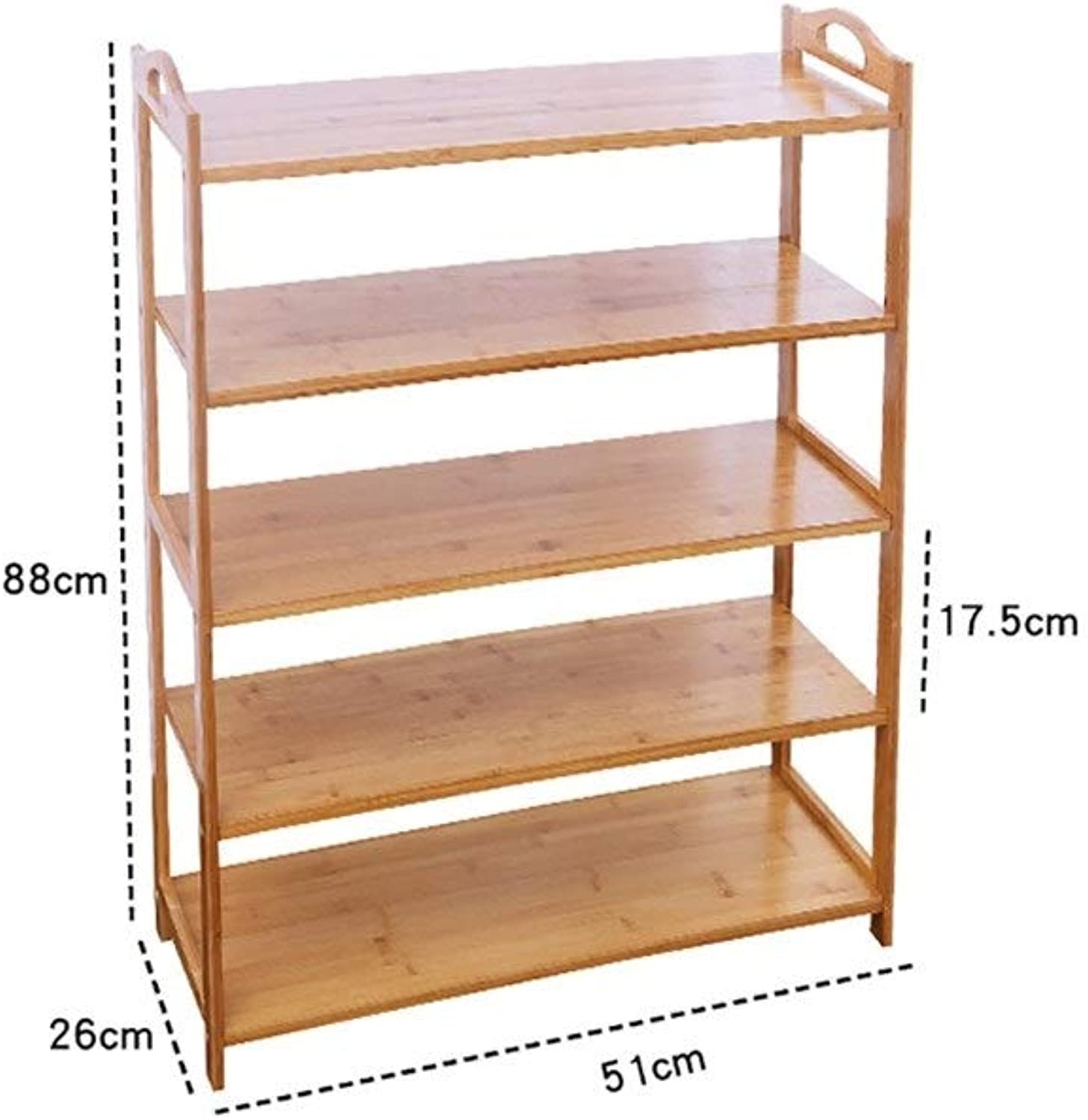 shoes Rack Organizer Storage, Multi-Layer Simple Solid Wood shoes, shoes Bench, Bamboo Storage Rack, dust-Proof shoes Rack. (Size   51  26  88CM)