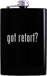 got retort? - 8oz Hip Alcohol Drinking Flask, Black