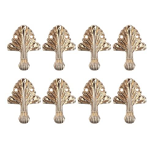 Angoily 8 Unidades de Caja de Madera Decorativa Patas Caja de Joyería Vintage Caja de Regalo Caja de Pie Protector de Esquina Inferior para Armarios Cajas de Regalo Cajas de Vino Caja de