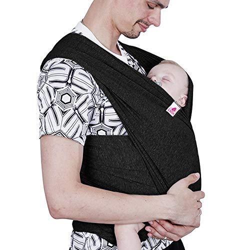 Lictin Babytragetuch Kindertragetuch Babybauchtrage Tragetuch für Baby Neugeborene Innerhalb 16 KG Schwarz