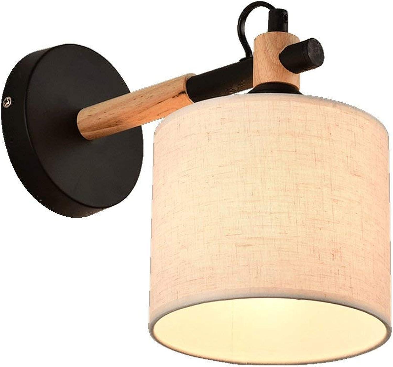 Qian Fei modernes Wohnzimmer Schlafzimmer Nachttischlampe Ganglichter Europischen Stil Kreative Holzkunst Wandleuchten E27 Nachttischlampe (Farbe  SCHWARZ)