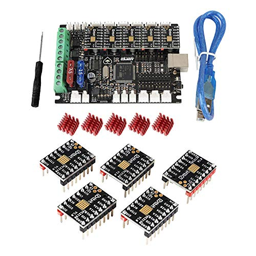 SongMyao Led Makeup Mirror 3D Printer Board Armed STM 32Bit Marlin 2.0 Mainboard + TMC2130 Stepper Motor Driver Kit Replace Prusa i3 (Color : Black, Size : One size)