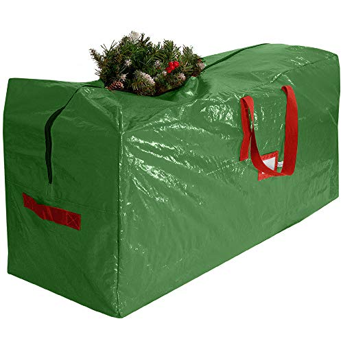 Premium Quality Christmas Tree Storage Bag - Fits Trees Up to 9 Feet Tall, Water & Tear Resistant Material (Green, 9 Feet Tree)