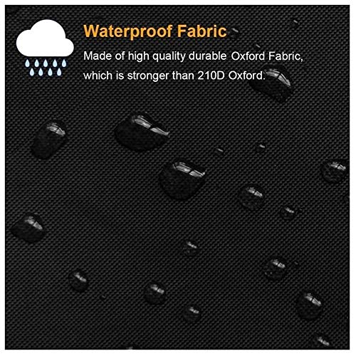 ALGFree Garden Furniture Cover, Rattan Cover Rectangular Tarpaulin Patio Waterproof Durable Patio Garden Table Cover Outdoor Furniture Cover, Customizable (Color : Black, Size : 120x120x85cm)