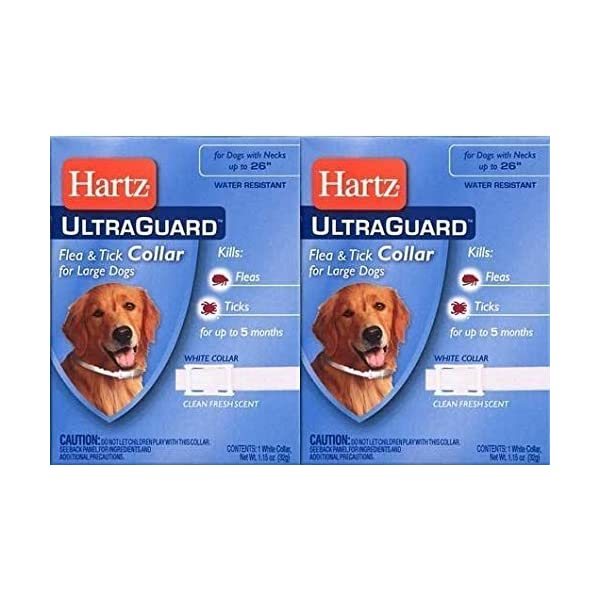 Ultraguard Flea and Tick Large Dog Collar 26″ – White (Pack of 2)
