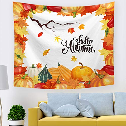 nobranded Tela de Fondo de Tapiz de acción de Gracias Tapiz de Halloween para el hogar Tela Decorativa Simple