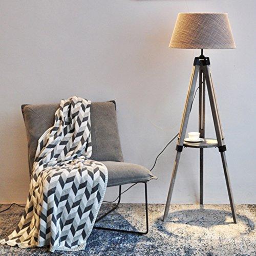 Staande lamp Nordic Sofa massief houten salontafel staande lamp, woonkamer eenvoudige moderne verticale staande lamp LED