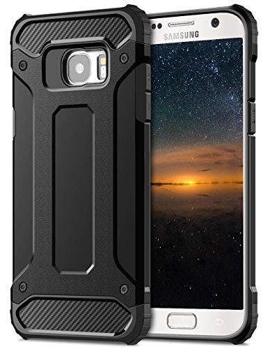 Coolden Samsung Galaxy S7 Hülle, Premium [Armor Serie] Militärstandard Outdoor Stoßfest Armor Case Tough Silikon TPU Bumper Schutzhülle für Samsung Galaxy S7 Handyhülle(Schwarz)