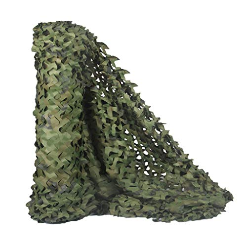 HYOUT Camouflage Netting, Camo Net Woodland Blinds Great for Military Sunshade Camping Shooting Hunting Party Decoration 5x9.8ft