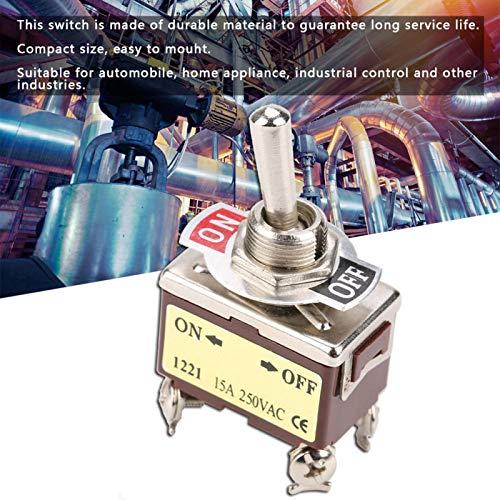 Interruptor de palanca de posición 15A Interruptor de palanca de orificio de montaje duradero de 12 mm para electricidad industrial para control industrial para automóvil