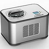 Syntrox - Máquina de helado automática de acero inoxidable con compresor