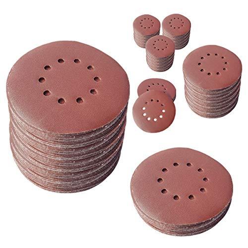 25 discos abrasivos de 225 mm de diámetro, con 10 agujeros, grano P40, lijadora excéntrica de cuello largo, lijadora de Bohrfux