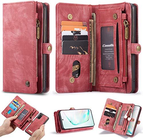 WintMing Compatible with Samsung Galaxy Note 20 Wallet Case with Card Holder Flip Leather Case Magnetic Detchable Stand Feature Multi-Function Protective Cover
