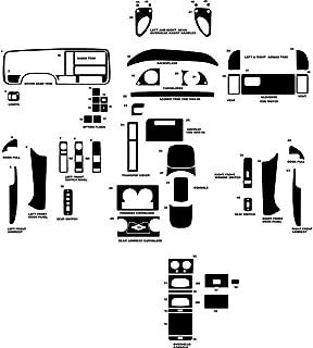 Rvinyl Rdash Dash Kit Decal Trim for Chevrolet Pick Up (Full Size) / Suburban/Tahoe/GMC Sierra/GMC Suburban/Yukon 1995-1999- Wood Grain (Mahogany)