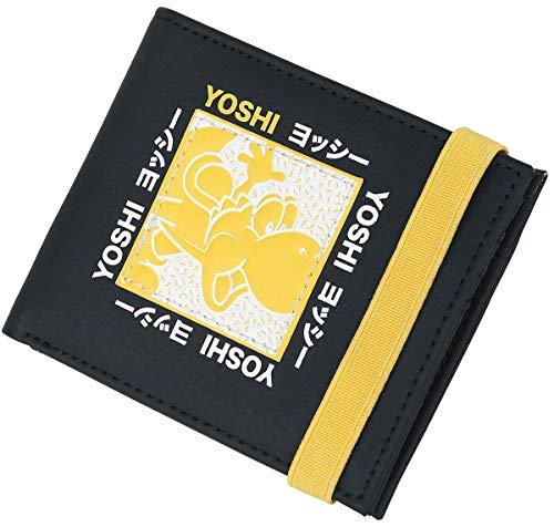 Nintendo - Super Mario Festival Yoshi Bifold Wallet Black