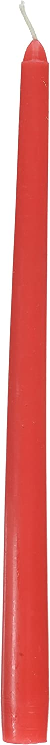 Zest New product!! Candle 12-Piece Taper 12-Inch Candles Attention brand Red Ruby