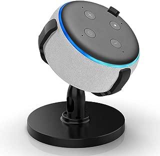 HLOMOM Dot 第3世代 スマートスピーカー用ホルダー 保護スタンド 卓上用マウント Speaker ブラケット 360度調節可能 安定性が高い