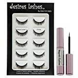 DESIRES LASHES By EMILYSTORES Magnetic Eyelashes 3D Natural Magnet Faux Lashes Multipack 5Pairs, Emma