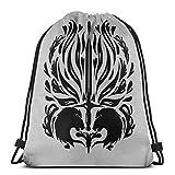 Yuanmeiju Cullen Romance Tattoo Shoulder Bolsa con cordón Backpack String Bags School Rucksack Gym Sport Bag Lightweight