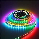 H/A Tira de luz LED IP20 2812 RGB de 5 m, 5 V, 30 o 60 luces/metro IC integrada dirección separada SMD 5050 RGB color LED tira TOM-EU (color: RGB, tamaño: 5 m, 150 ledes)