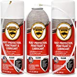 woolwax 12 Oz Undercoating Protection Aerosol Spray Can 3 Pack, Rust Inhibitor and Prevention, Anti Corrosion Multi Purpose Penetrant and Lubricant, Spray Can Extension Wand Included