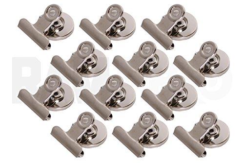 "12 PC Ram-Pro Refrigerator Magnet Clips - 1"" wide Magnet Spring Clip…"
