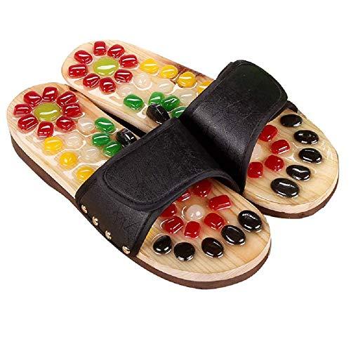 Amimilili Akupressur Massage Slipper Fußmassagegerät Hausschuhe Schuhe für Männer Frauen,39 * 40