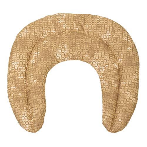 Cuscinetto ricurvo con tasca - batik oro - Noccioli di ciliegia - Cuscino per il collo per terapia calde e freddo