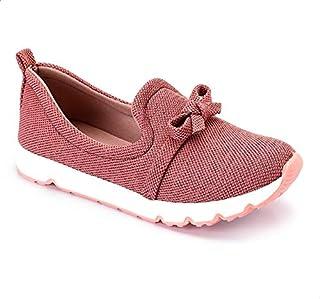 حذاء قماش شبكي مرقش سهل الارتداء بفيونكة للنساء من جرينا
