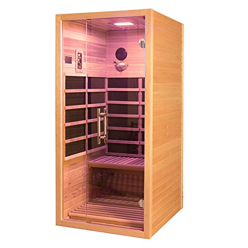 Cabina a infrarossi Visio 1 con radiatore, esterno in legno di cedro