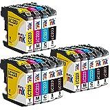 Starink 14 Pack Kompatibel für Brother LC-223 LC223 XL Tintenpatronen für Brother DCP-J562DW DCP-J4120DW MFC-J4420DW MFC-J4620DW MFC-J4625DW MFC J5320DW J5620DW J5625DW J5720DW J480DW J680DW 880DW
