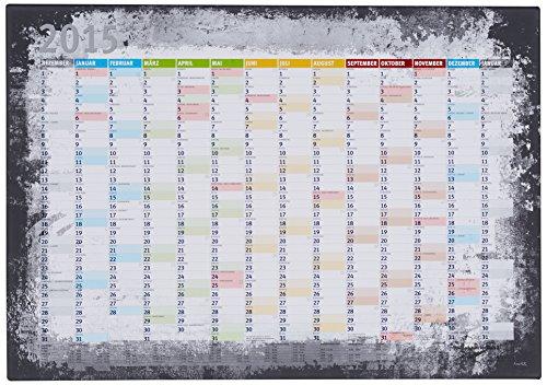 LanaKK Kalender2015graphitkork70x50S - Calendario 2015 con pregiata stampa artistica montato su telaio, pronto da appendere, colore grafite/sughero, dimensioni 70 x 50 cm