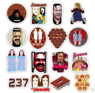 JZLMF Classic Movie Shining Stickers Bagagli Trolley Adesivi Graffiti Personalizzati 50Pcs