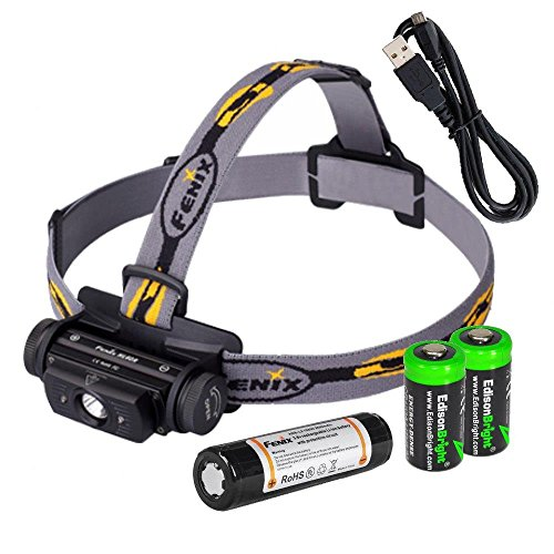 EdisonBright Bundle Fenix HL60R 950 Lumen USB Rechargeable...