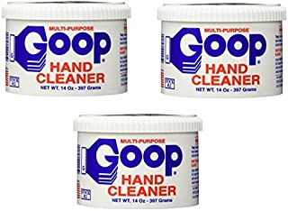 Goop Hand Cleaner and Laundry Stain Remover (Pack of 3) 14 oz, Waterless, Non-Toxic and Biodegradable, Removes Grease, Grass, Tar, Blood, Paint, Dirt, Mud