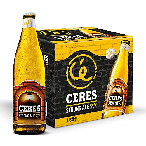 Ceres Strong Ale - Birra Chiara - Strong Lager Doppio Malto a Bassa Fermentazione - Cartone 12 Bottiglie da 66 cl