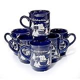 36 x Glühweintassen blau Glühwein-Keramikbecher geeicht 0