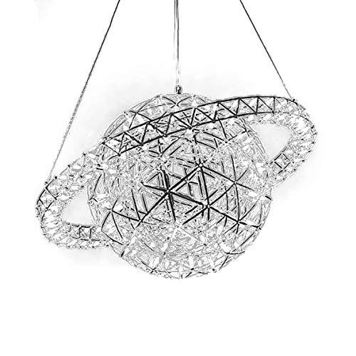 MJK Planet Lámpara de techo Moderno Crystal Globe Sputnik Candelabro Creatividad Suspensión Decoración interior Lámpara colgante para cocina Dormitorio Bar,Blanco frío