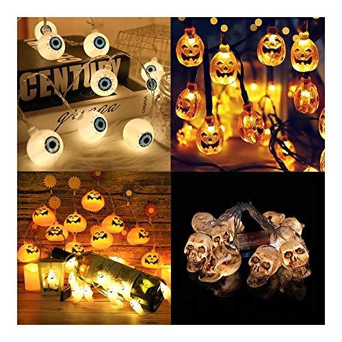 DZSW Rhldzswb 1.5m 10 LED de la Calabaza LED Luces de la Secuencia de días Festivos Family Bar Decoración de Halloween Decoración Decoración de la Fiesta de Bodas (Color : 1.5m Skeleton String)