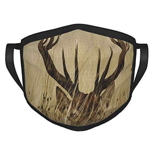 TRUJDNS - Funda para la boca con diseño de ciervos de cola blanca en el desierto de ciervo en el campo, caza rural, cubierta para boca, paño lavable, para hombres, mujeres, ciclismo, camping, viajes