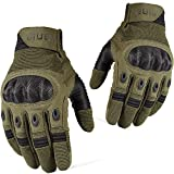 WTACTFUL Touchscreen Tactical Gloves Military Full Finger Gloves for Army Airsoft Paintball Camping Hunting Hiking Riding Cycling Motorcycle Motorbike ATV Bike Cycling Work Gear Green Size Medium