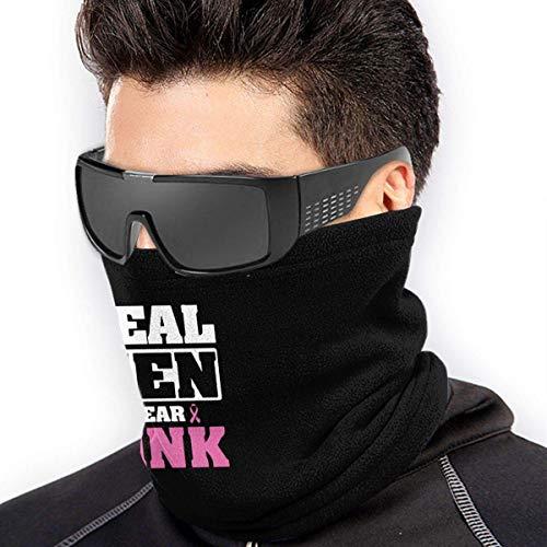 QDAS mannen vrouwen echte mannen dragen Pink Neck Gamas Warmer Gratis UV Circle Loop Sjaals voor Unisex