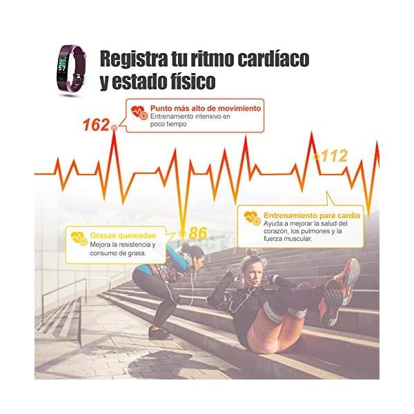 Glymnis Pulsera de Actividad Inteligente Pulsera Deportiva IP68 con 14