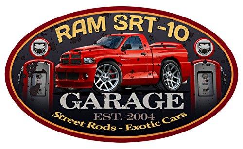 Dodge Ram SRT-10 Viper Pickup Truck GARAGE SIGN Wall Art Graphic Decal Sticker (3 Ft)
