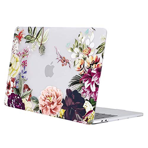 MOSISO Custodia MacBook PRO 13 Pollici A1706/A1708/A1989/A2159 Case 2019 2018 2017 2016,Motivo Rigida Cover Compatibile con MacBook PRO 13 con/Senza Touch Bar,Foglie di Rosa
